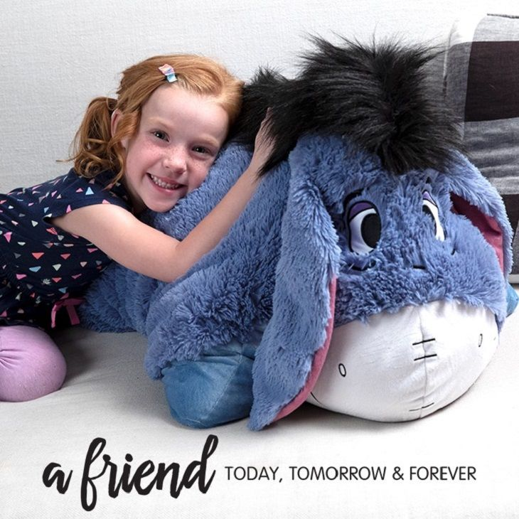 The Disney Eeyore Pillow Pets A Super Soft Plush Folding Stuffed Animal So Cuddly You Ll Never Want To Put It Dow Animal Pillows Puppy Pillows Panda Pillow