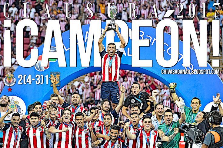 CHIVAS 2-1 TIGRES || DESPERTÓ EL GIGANTE; ¡12 VECES GRANDE! Guadalajara rompió una sequía de más de 10 años sin ganar el campeonato, y de paso igualó al América como máximo ganador de Ligas. El Rebaño derrotó 2-1 (4-3 global) a Tigres. ''Mañana me tatúo el escudo de Chivas'' dijo Matías Almeyda. Más de 70 mil aficionados se congregan frente a la efigie para festejar a las Chivas.