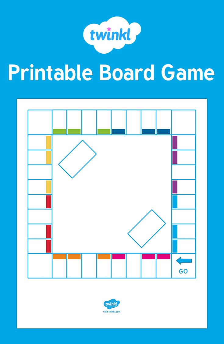 Blank Board Game Template For Zathura Author Study Pinterest Board