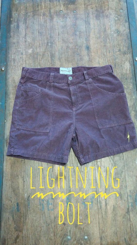 4894a37dcd LIGHTNING BOLT RETRO Men's Rory Corduroy Shorts MAROON Size 34 NWOT ...