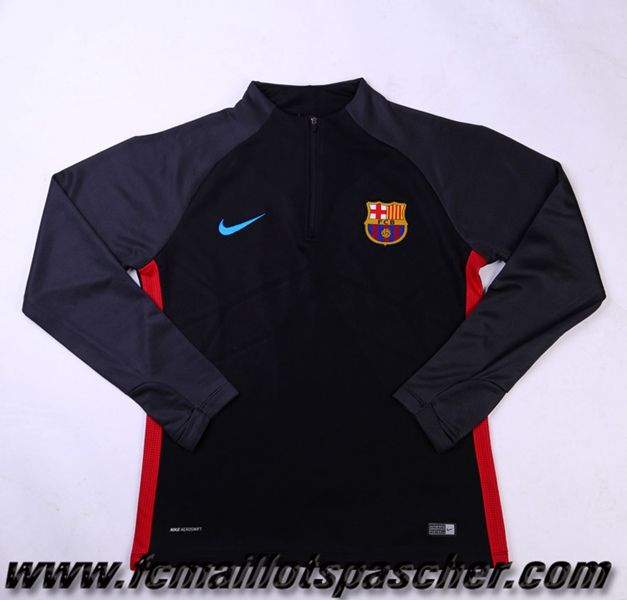 Homme Ensemble Survetement Nike foot 2017 2018 FC Barcelone Noir/Gris Replica