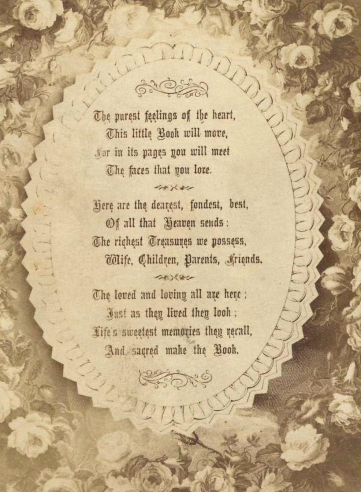 Scrapbook poem. | Scrapbook and Genealogy