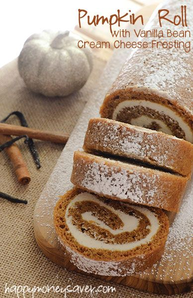 This easy pumpkin roll recipe, complete with vanilla bean cream cheese icing, is a perfect holiday dessert that can be prepared ahead of time and frozen!