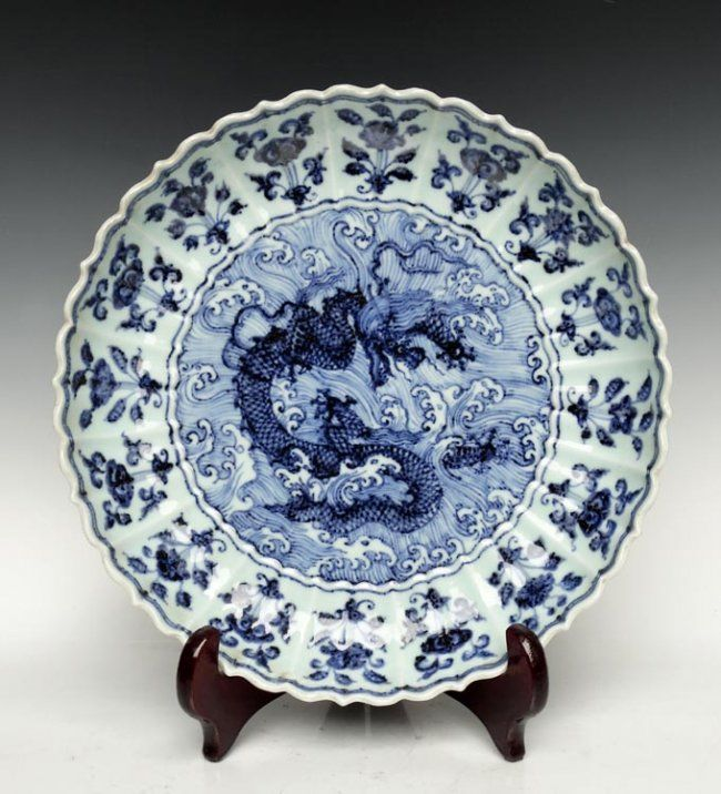 A Fine Chinese Ming Dynasty Blue and White Porcelain Plate & 709 best Chinese blue \u0026 white porcelain images on Pinterest ...