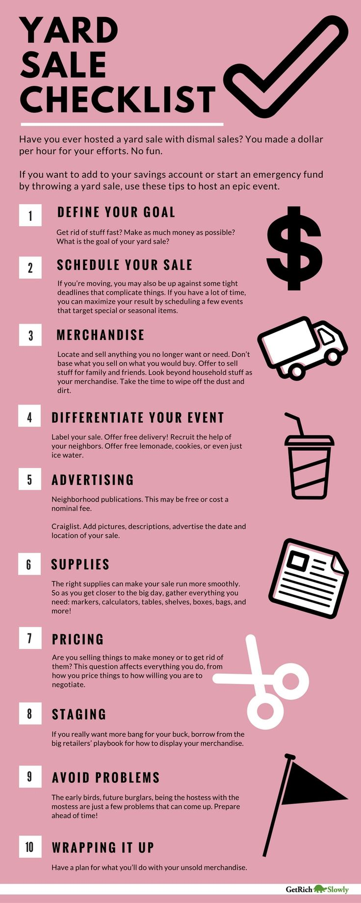 Learn how to host the very best garage sale ever - Learn How To Host The Very Best Garage Sale Ever Best Yard Sale Checklist The Download
