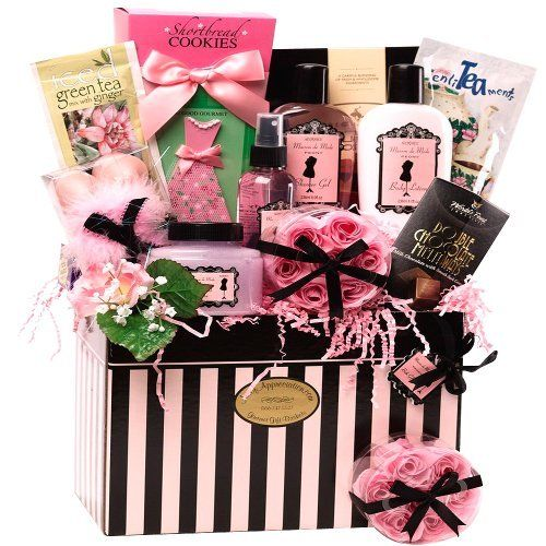 Best Valentine Gift For Her Art Of Appreciation Gift Baskets Dressed To  Impress Spa, Bath And Body Gift Box