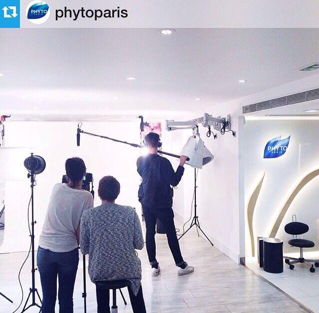 Γύρισμα στο hair beauty salon του Patrick Alès στο Παρίσι. Καλή εβδομάδα σε όλους!