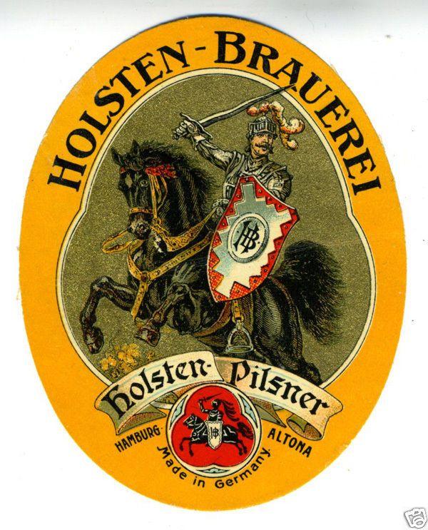 1920s German Beer Label Holsten Brauerei Pilsner