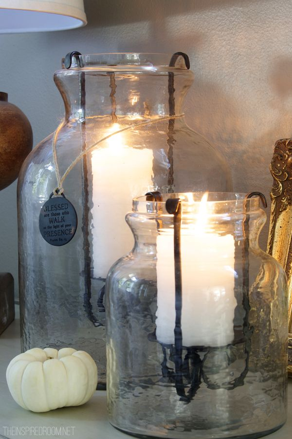 love these glass lanterns ....anywhere
