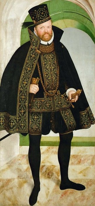 Lucas Cranach the younger --  August, Elector of Saxony. Kunsthistorisches Museum