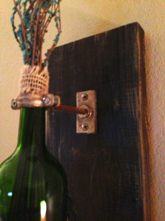 Wine Bottle wall sconces wall hanging decorative by AdellesAvenue
