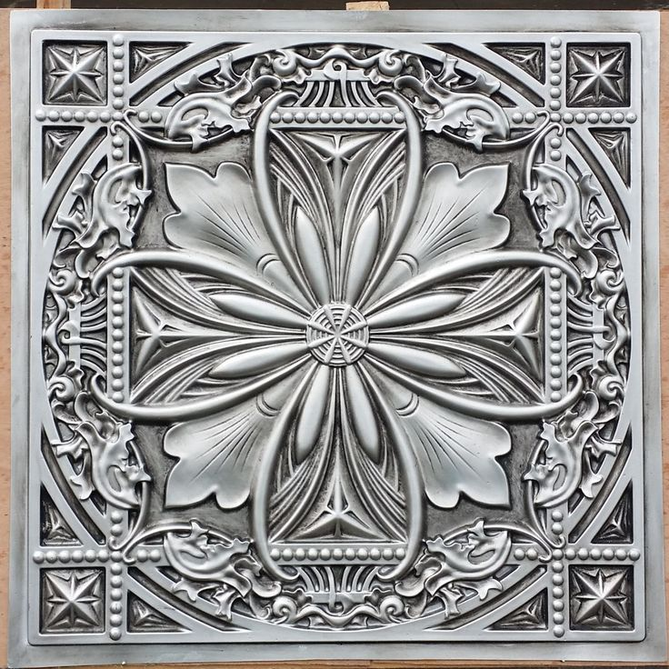 PL10 Faux tin finished antique silver 3D embossed 2x2 ceiling tiles Interior wall panel store cafe pub decor ceiling panels 10tiles/lot by Fauxpaintceilingtile on Etsy