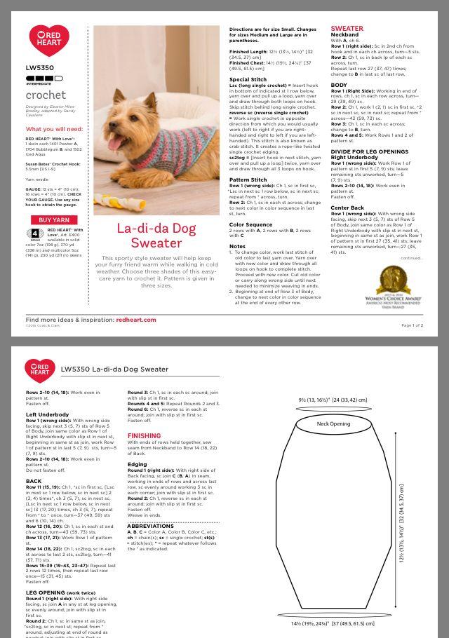 Ropa de perro | Ganchillo | Ganchillo, Ganchillo crochet y Croché