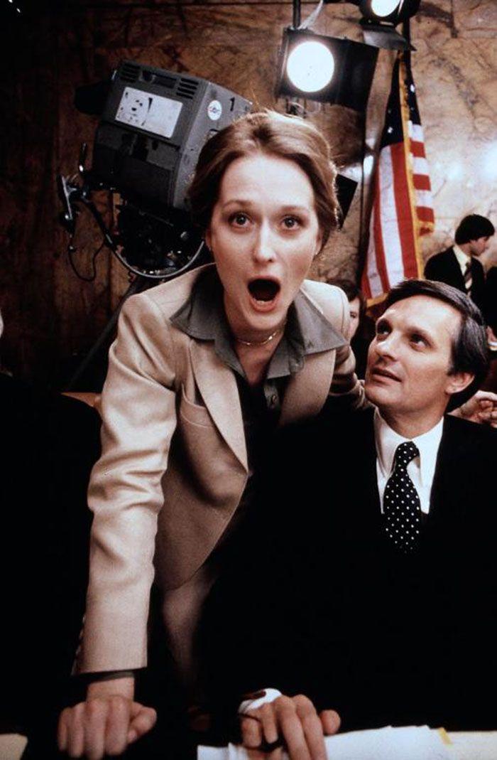"""Meryl Streep y Alan Alda en """"Escalada al Poder"""" (The Seduction of Joe Tynan), 1979"""