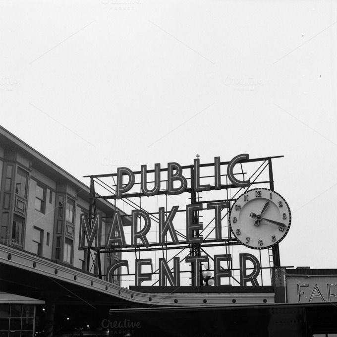 Pike's Place Market - Seattle by Topographically on Creative Market