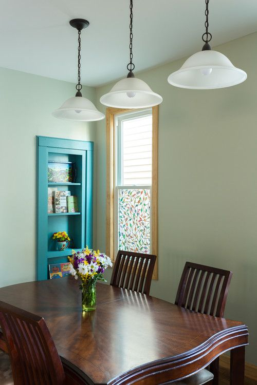 Colorful Eclectic Dining Room. Designed by Chi Renovations & Design who serve Chicago and it's surrounding suburbs, with an emphasis on the North Side and North Shore. You'll find their work from the Loop through Lincoln Park, Skokie, Wilmette, and all the way up to Lake Forest  | Chicago Renovations & Interior Design #ChiRenovation - www.chirenovation.com