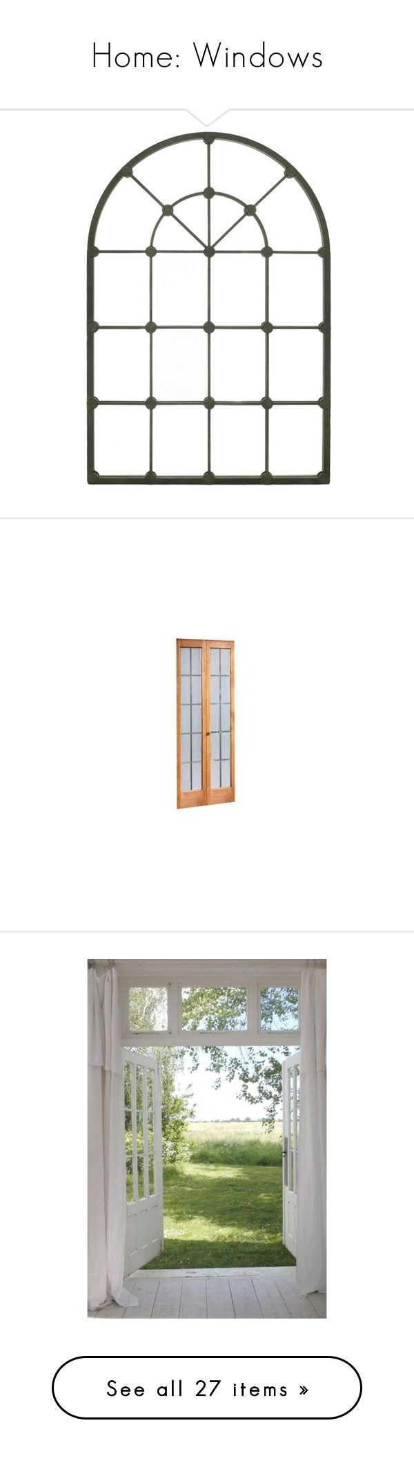 """Home: Windows"" by einsteinium21 ❤ liked on Polyvore featuring windows, home, home decor, mirrors, backgrounds, decor, borders, picture frame, rustic home decor and rustic window mirror"