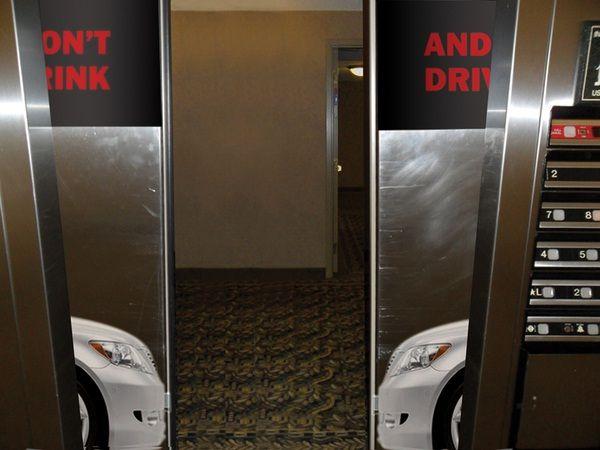 Powerful message-Creative elevator ads