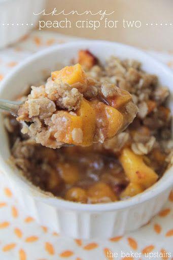 Skinny Peach Crisp for Two Recipe on Yummly