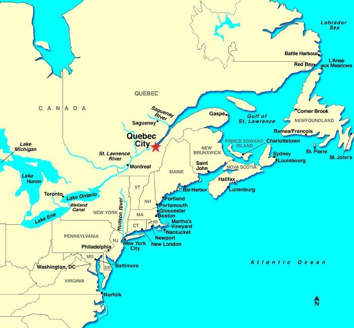 Quebec City QC Canada Map Quebec City Pinterest Quebec - Quebec city canada map