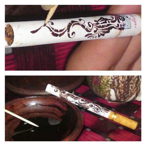 NYETHE draw on cigarette by coffee leftover