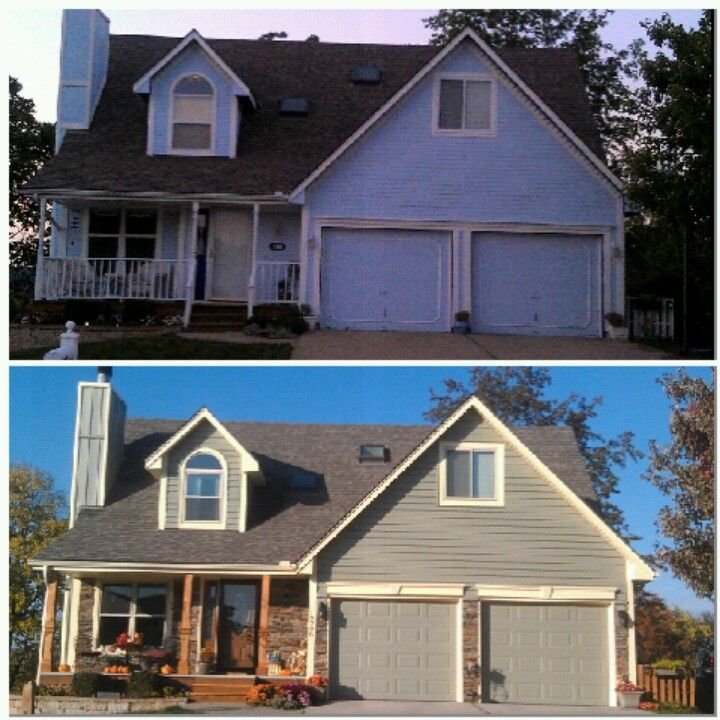 Before and after exterior remodel for the home pinterest - Exterior home remodel before and after ...