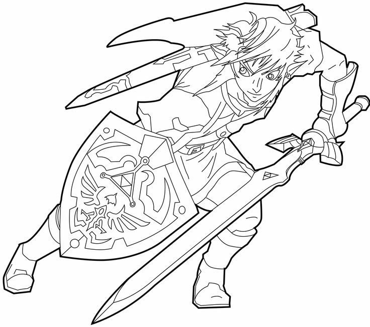 toon link coloring pages - photo#36