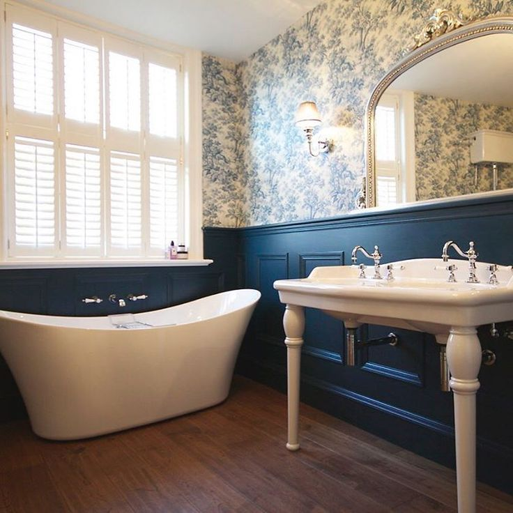"62 Likes, 4 Comments - HERITAGE BATHROOMS® (@heritagebathrooms) on Instagram: ""This Heritage home provides a great example of how to incorporate dark hues and deep tones in a…"""