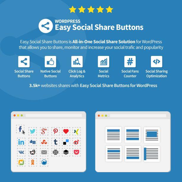 Easy Social Share WordPress Plugin - WPExplorer
