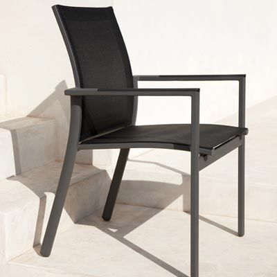 Gloster Azore Stacking Armchair - Slate