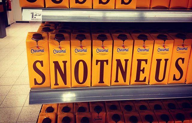 #snotneus #chocomel