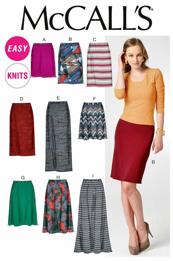 Pull-on Skirts Pattern Straight Skirt Pattern Long Skirt