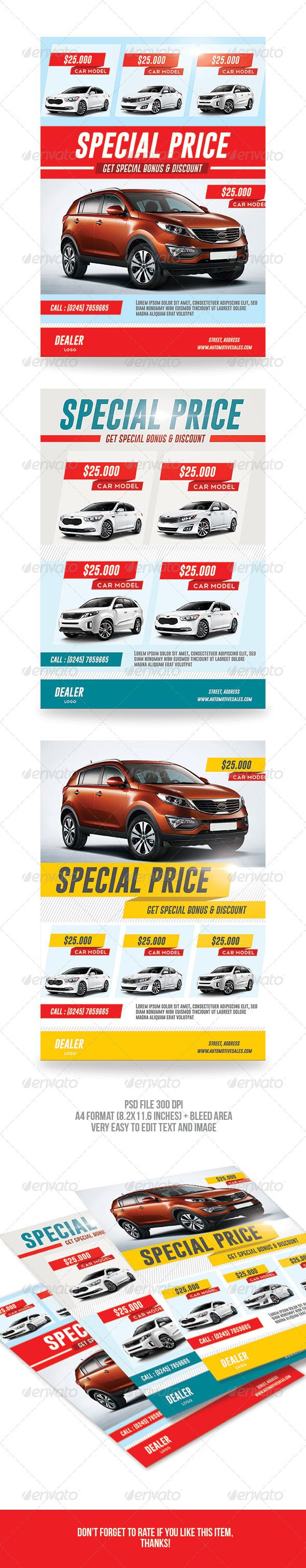 Car Sale Flyer — Photoshop PSD #template #ads • Available here → https://graphicriver.net/item/car-sale-flyer/7193129?ref=pxcr