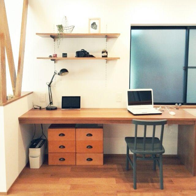 Satokoさんの、無印良品,多肉植物,ニトリ,IKEA照明,中古住宅,IKEAフレーム,元和室,こどもと暮らす。,アネストワン,EOS5D,造作デスク,のお部屋写真