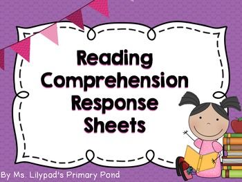 32 reader response sheets - just print and use with any text!  These address fiction and nonfiction, as well as Common Core skills. $
