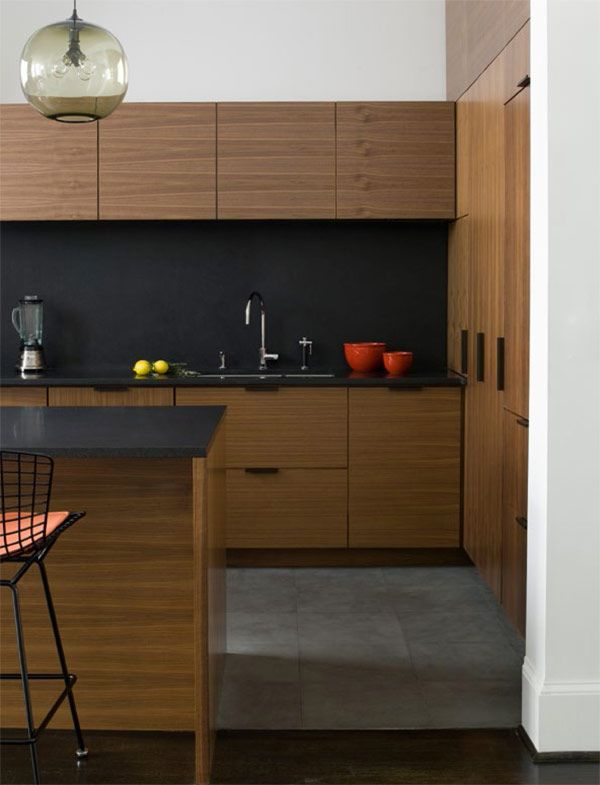 dark splashback henrybuilt modern kitchen cabinets