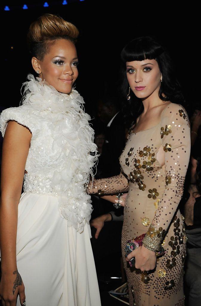 Katy Perry Rihanna Photos: 52nd Annual GRAMMY Awards - Audience
