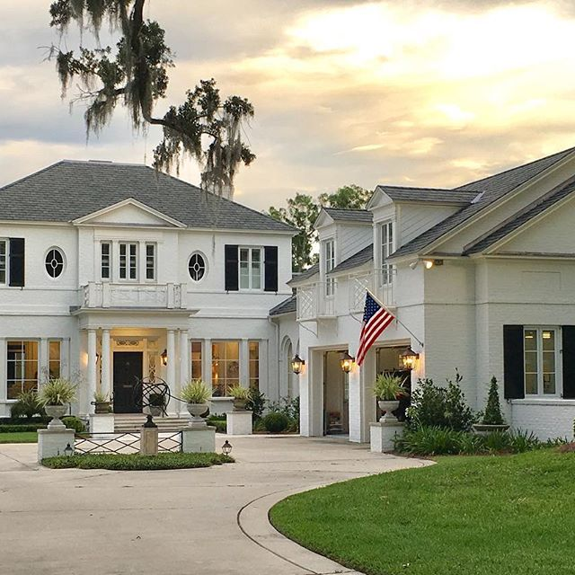 Patriotic Wjiy Exterior. Jacksonville, Florida homes are just ❤ -- also this weekend sales picks are up on the blog. Have a great weekend!