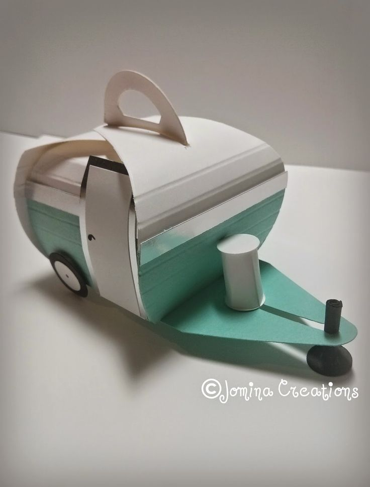 Retro Trailer made with the Curvy Keepsake Thinlit from Stampin' Up! Created by Jomina Creations