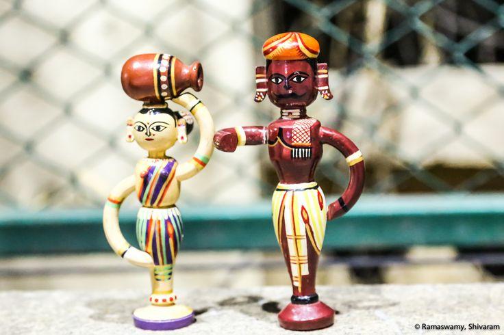 Channapatna dolls-Traditional Andhra pair #PurpleJug #channapatnadolls #channaptana #lovefordolls   https://www.facebook.com/Pu…