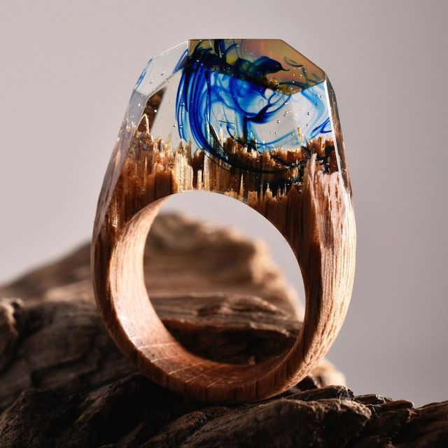Best Secret Wood Rings Images On Pinterest Rings Modern And - Inside each of these wooden rings is a beautiful hidden world