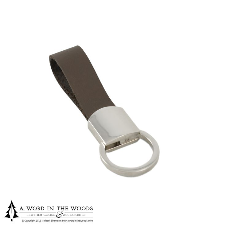 This leather key fob is a refined alternative to using a split ring fob — just a quick pull and a twist allows you to add or remove keys.