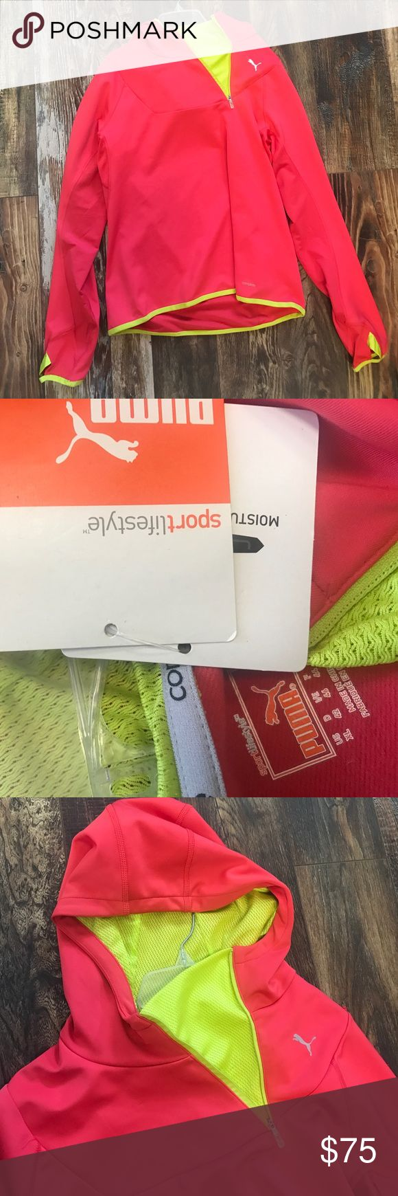 Women's Puma Jacket Brand new, with original tags!! Add this jacket with moisture management to your workout gear to be stylish and comfortable!! Puma Jackets & Coats