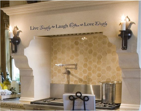 Live Simply Laugh Often Love Deeply Wall Decal Removable Inspirational Saying To Define Your Space Made Designed In The Usa