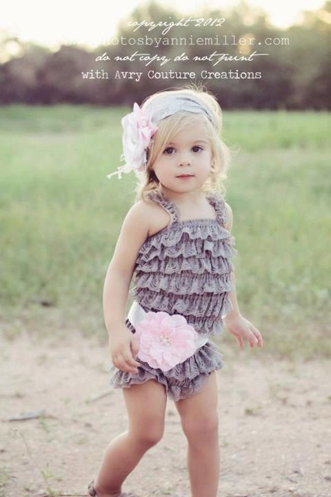 how to make a baby lace romper