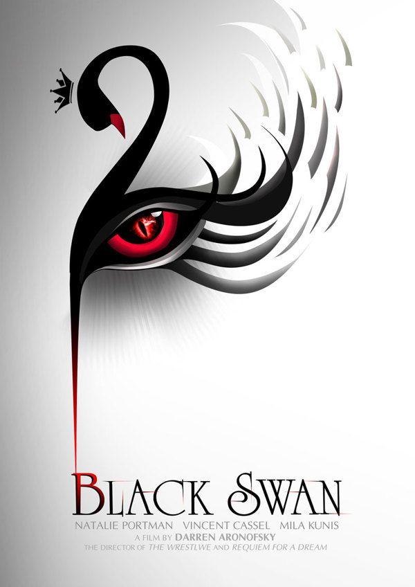 Black Swan (2010) - Minimal Movie Poster by Hung Trinh ~ #movieposters #minimalmovieposters