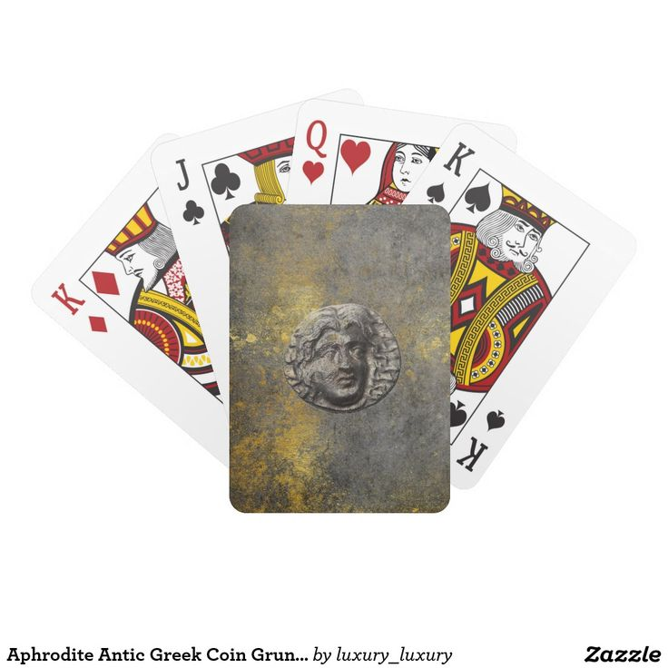 Aphrodite Antic Greek Coin Grungy Playing Cards