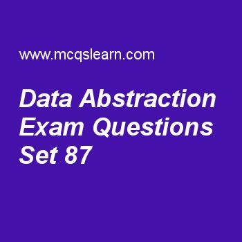 Learn quiz on data abstraction, DBMS quiz 87 to practice. Free database management system MCQs questions and answers to learn data abstraction MCQs with answers. Practice MCQs to test knowledge on data abstraction, database system environment, sql data definition and types, three schema architecture, client server architecture worksheets. Free data abstraction worksheet has multiple choice quiz questions as identification, aggregation and instantiation are abstraction concepts used in...
