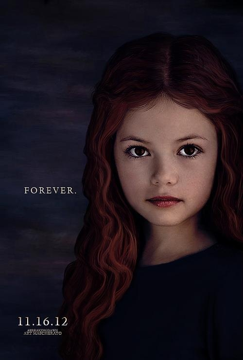 Renesmee - They took the face of Mackenzie Fox and put it on the face of Renesmee from birth through adulthood.