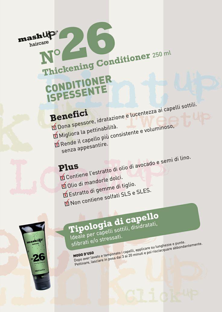 Mashup Haircare N°26Thickening Conditioner. Ideale per capelli sottili, disidratati, sfibrati e/o stressati.